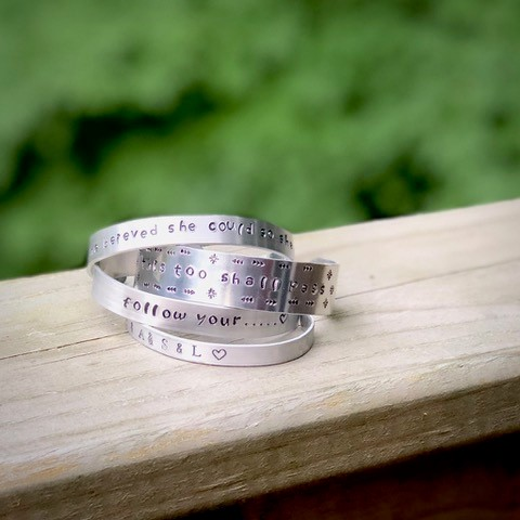 Stamp Your Own Mantra Bracelets
