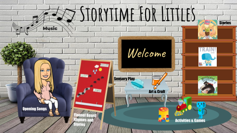 Join us in our Virtual Program Room for Storytime for Littles!