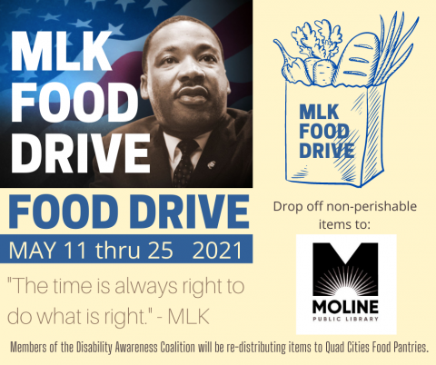 ARC Food Drive sign with photo of Martin Luther King, Jr.